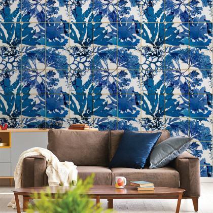 Mind The Gap Algae In Blue Wallpaper