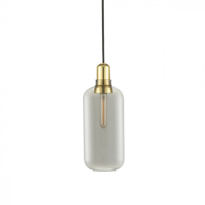 Normann Copenhagen Amp Lamp Large - Brass-Smoke