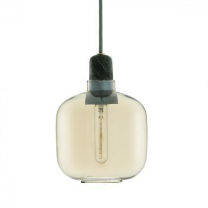 Normann Copenhagen Amp Lamp Small - Marble-Gold