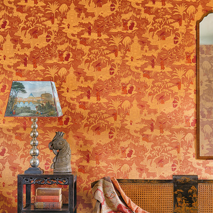 Cole and Son Chinese Toile Wallpaper - Chinese Red (100-8041) - 1 roll from a batch