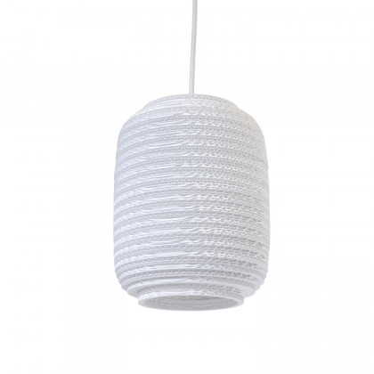 Graypants White Ausi Pendant Lamp 8 inch