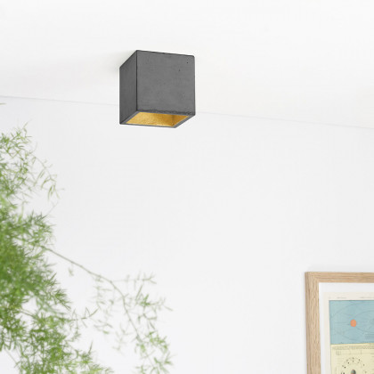 GANTlights B7 Concrete Ceiling Light - Dark
