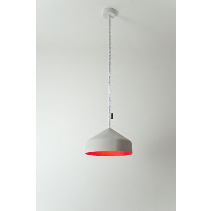 In-es.artdesign Cyrcus Cemento Pendant Light - Grey/Red
