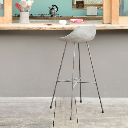 The Hauteville Concrete Bar Stool