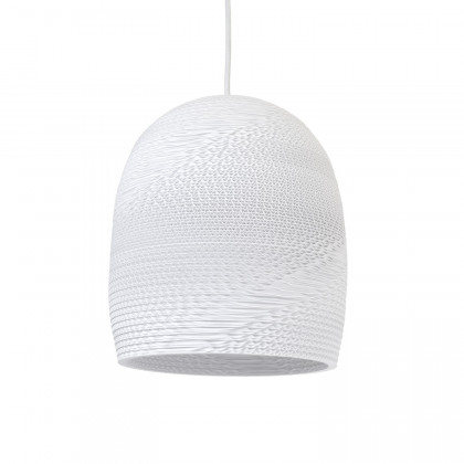 Graypants White Bell Pendant Lamp 10 inch