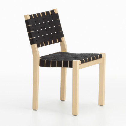 Artek 611 Dining Chair - Lacquered Birch