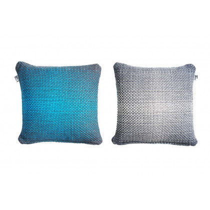 Simon Key Bertman Textile Design & Art -2-Sided Gradient Cushion Cover - Blue/Grey