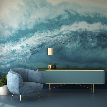 Feathr Blue Hawaiian Mural Wallpaper