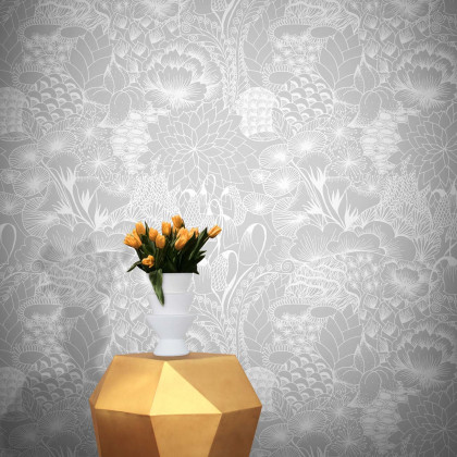 Feathr Bloom Wallpaper by Grace Michiko Hamann