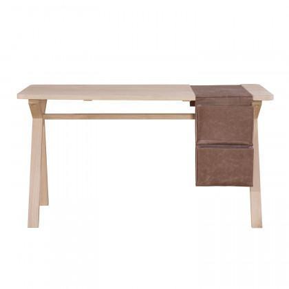 Wewood Oak Bolsa Desk with Leather Storage