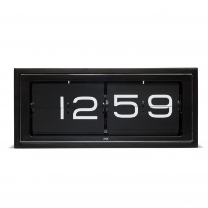 Leff Amsterdam Brick Black 24 Hour Flip Desk/Wall Clock