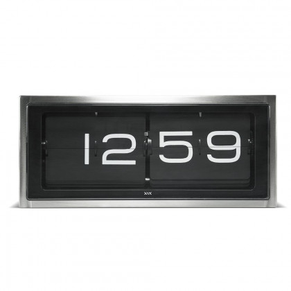 Leff Amsterdam Brick Steel 24 Hour Flip Desk/Wall Clock