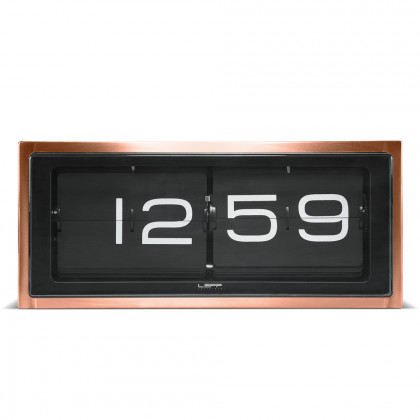 Leff Amsterdam Brick Copper 24 Hour Flip Desk/Wall Clock