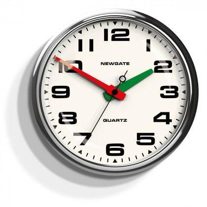 Newgate Brixton Clock-Chrome