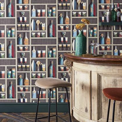 Cole and Son Cocktails Wallpaper - Fornasetti Senza Tempo