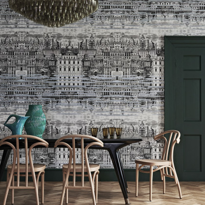 Cole and Son Riflesso Wallpaper - Fornasetti Senza Tempo