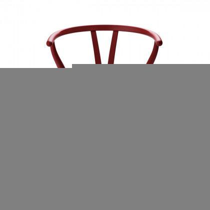 Carl Hansen CH24 Soft Wishbone Chair - Soft Red