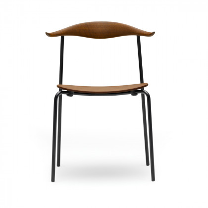 Carl Hansen CH88T Chair - Black Powder Coated Frame - Smoked Stained Oak