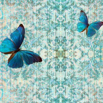 Blackpop Chapelle Blue Blush Wallpaper