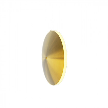 Graypants Spun Brass Chrona 10v Dish Pendant Light