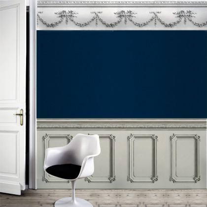 Classic 19th Century Wood Panelling Wallpaper - Warm Grey