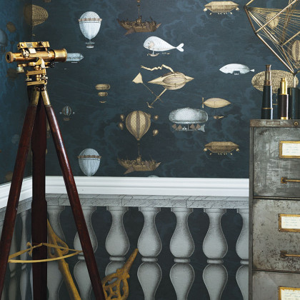 Cole and Son Macchine Volanti Wallpaper - Fornasetti (Two Roll Set)