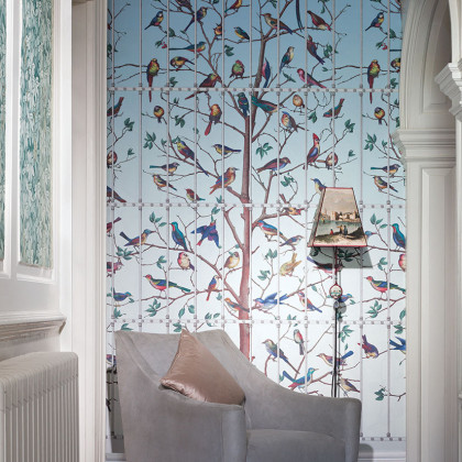 Cole and Son Uccelli Wallpaper - Fornasetti