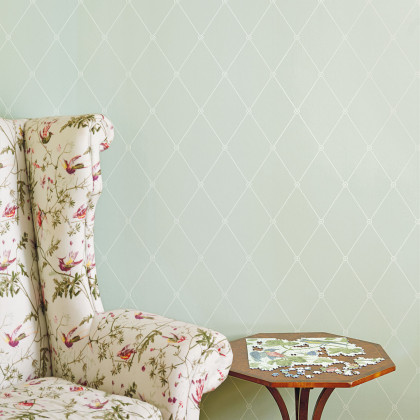 Cole and Son Large Georgian Rope Trellis Wallpaper