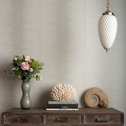 Cole and Son Plume Banded Stripe Wallpaper - Curio