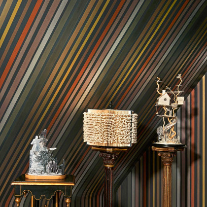 Cole and Son Carousel Stripe Wallpaper - Mariinsky Damask