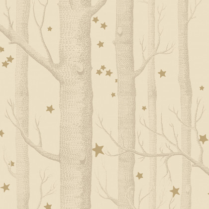 Cole and Son Woods and Stars Wallpaper - Cream - 2 roll from a batch