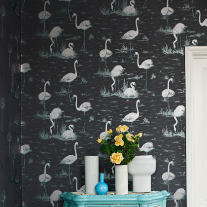 Cole and Son Flamingos Wallpaper - Contemporary Restyled