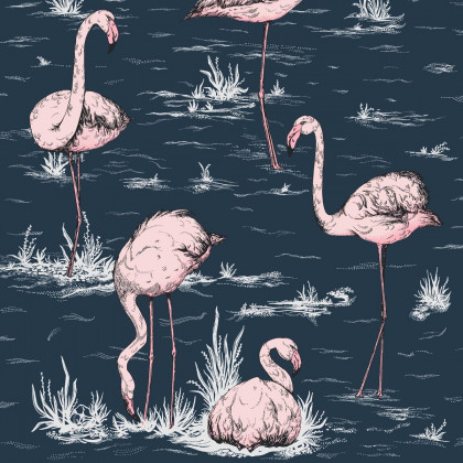 Cole and Son Icons Flamingo Wallpaper - 112/11041 (1 roll from a batch)
