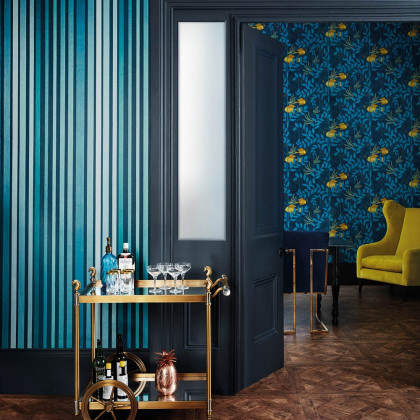 Cole and Son Carousel Stripe Wallpaper - Marquee Stripe