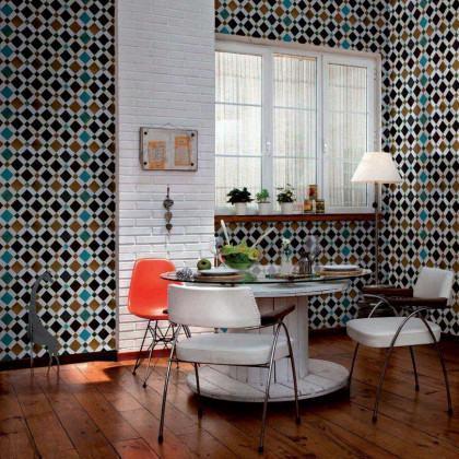 Coordonne Wallpapers Feria Tiles Wallpaper