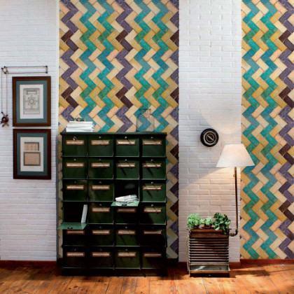 Coordonne Wallpapers Zig Zag Tiles Wallpaper