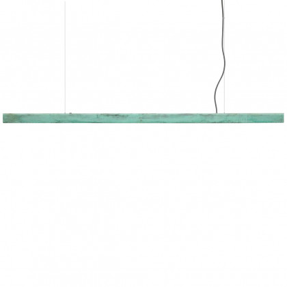Anour Oxidised Copper Pendant Lamp - Blue