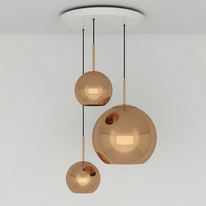 Tom Dixon Copper Trio Round Pendant System