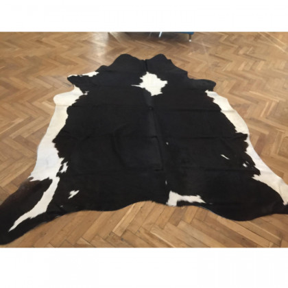 Chocolate to Black and White Cow Skin Rug / Hide - Large