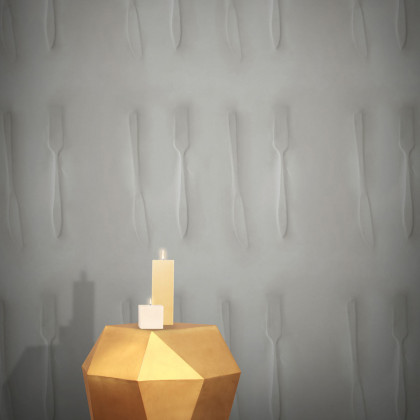 Feathr Cutlery Wallpaper by Inka