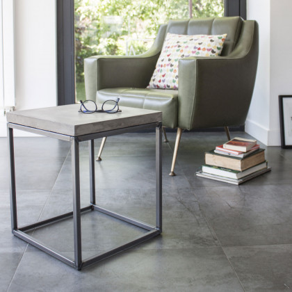 Lyon Beton Small Perspective Concrete Side Table