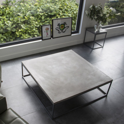 Lyon Beton Large Perspective Concrete Coffee Table