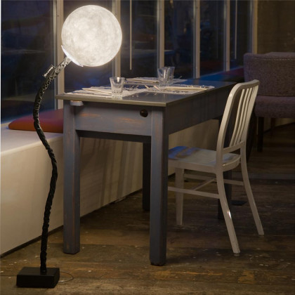 In-es.artdesign Micro Luna Adjustable Floor Lamp - White/Black