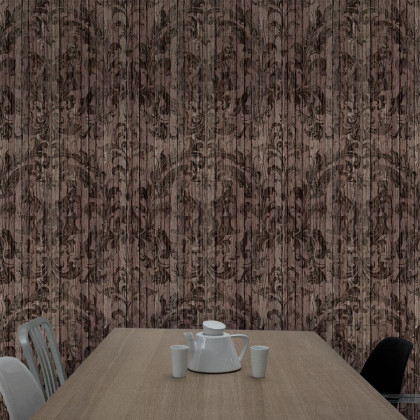 Mineheart Driftwood Damask Wallpaper (Dark)