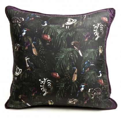 Witch and Watchman Amazonia Dark Silk Cushion