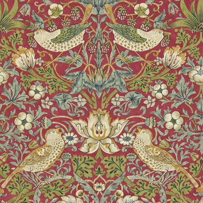 Morris and Co Strawberry Thief Wallpaper