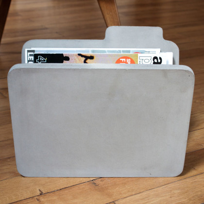 Concrete Magazine Rack - DOC