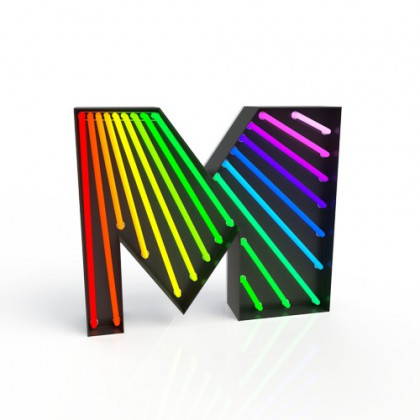 Delightfull Graphic Collection Letter M Lamp