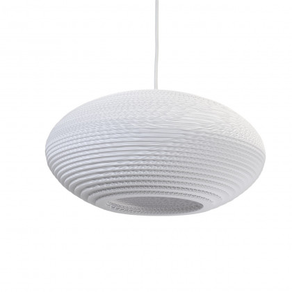 Graypants White Disc Pendant Lamp 16 inch