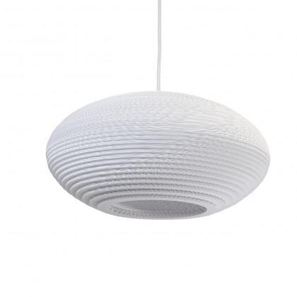 Graypants White Disc Pendant Lamp 16 inch